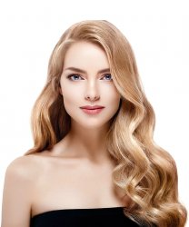 #18 Mittelblond, 50 cm, Double drawn Bondings