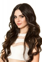 #2 Dunkelbraun, 60 cm, Double drawn Tape Extensions
