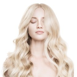 #6001 Extra Hellblond, 40 cm, Nanoring Extensions
