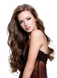 #8 Braun, 60 cm, Clip In Extensions