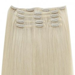 #12 Dunkelblond, 60 cm, Clip In Extensions