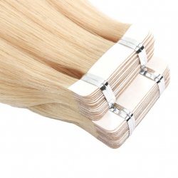 #6 Mittelbraun, 30 cm, Double drawn Tape Extensions